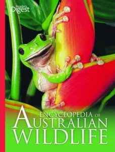 Cover of Encyclopedia of Australian Wildlife book (Revised Edition) with contributions by Peter Rowland