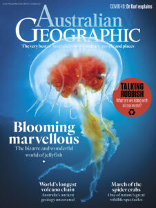 Cover of issue 156 of Australian Geographic Magazine containing Backyard Birding article