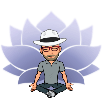 Avatar of Peter Rowland meditating with the lotus symbol in the background