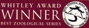 Whitley Award sticker for the Best Zoological Series