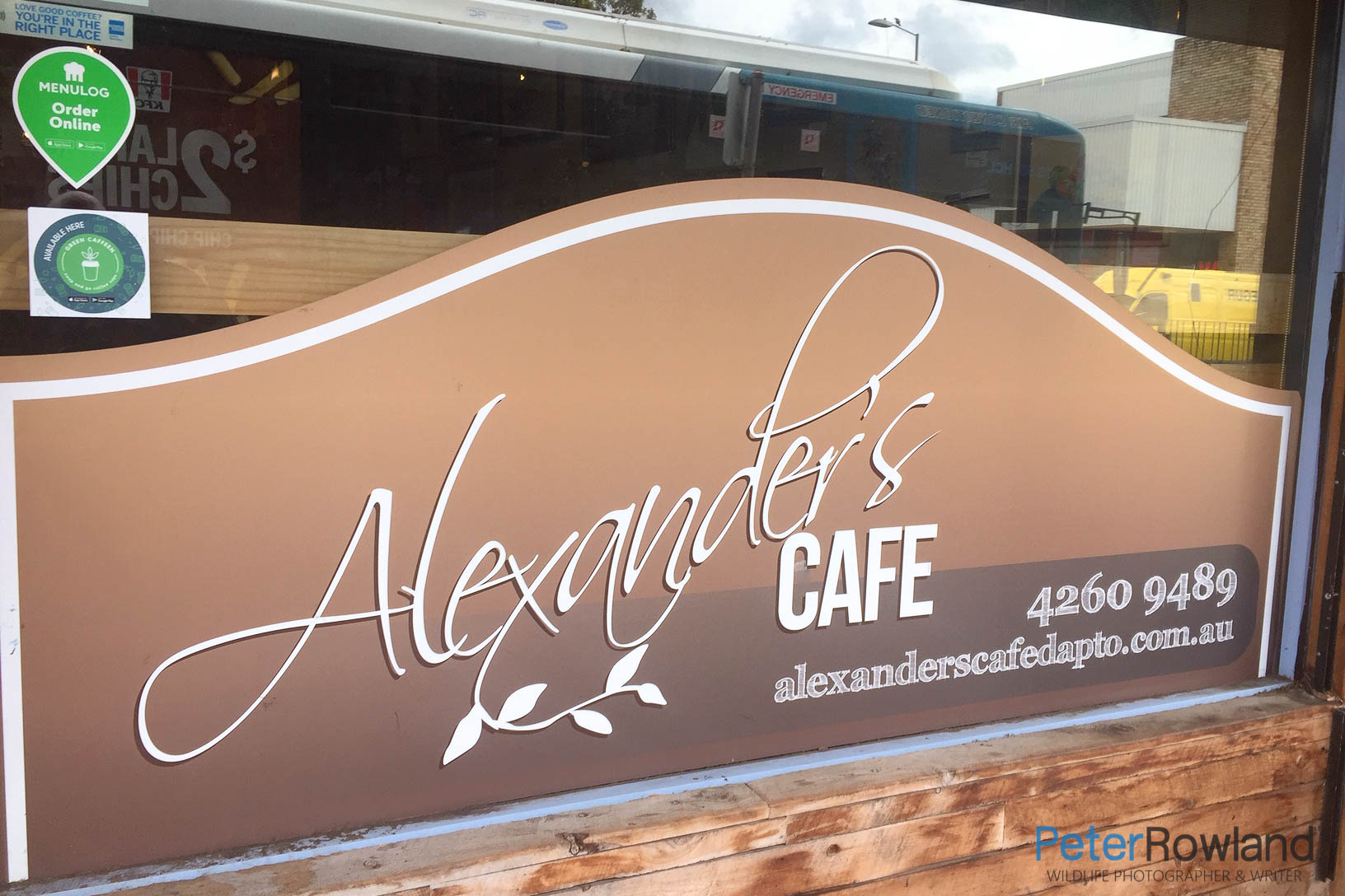 Alexanders Cafe front window