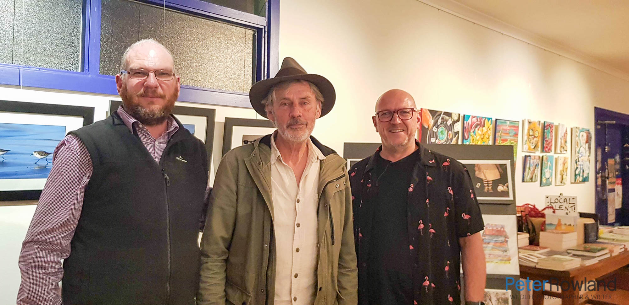Chris Farrell, Shane Howard and Peter Rowland at a book launch
