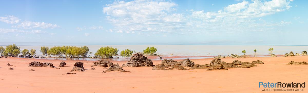 Panorama of Roebuck Bay near Broome Western Australia